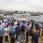 Manifestación de agricultores de Huelva