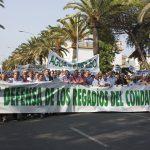 Manifestación en defensa de los regadíos del Condado