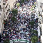 Manifestación de la Plataforma en Defensa de los Regadíos del Condado