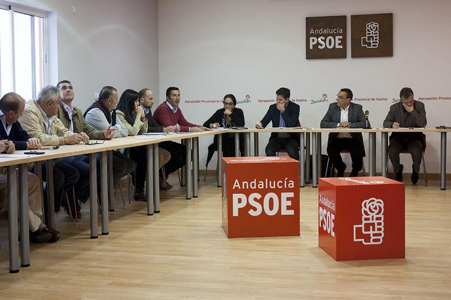 Reunión de la Plataforma de los Regadíos Condado con el PSOE Huelva