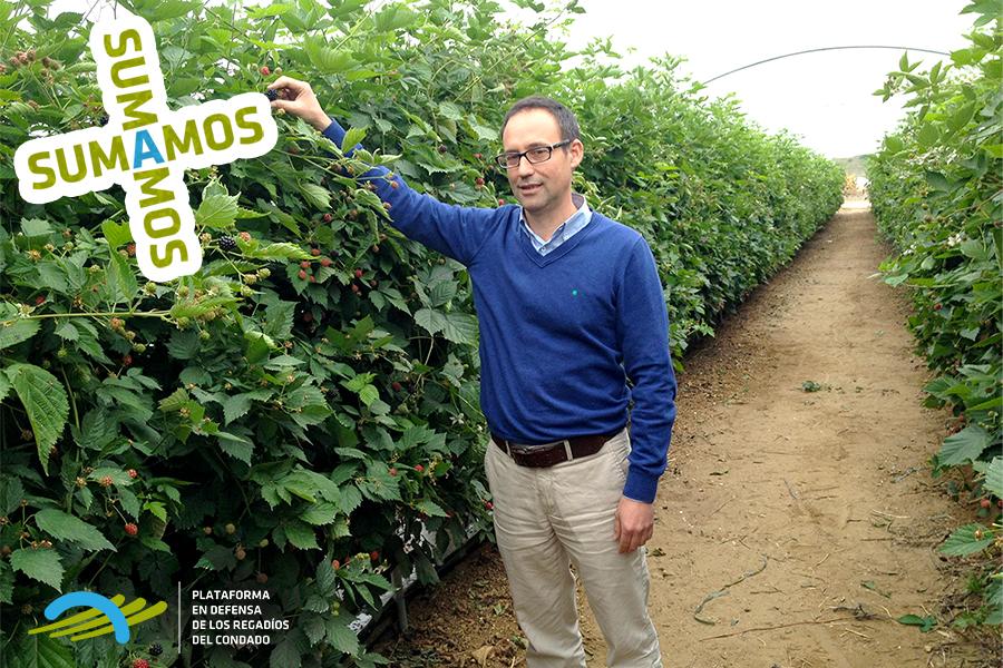 Daniel Velo, de Agrícola el Bosque, valora la situación del sector con el agua