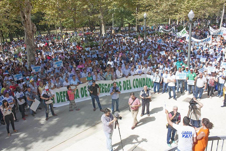 Manifestación en Sevilla por los regadíos del Condado de Huelva