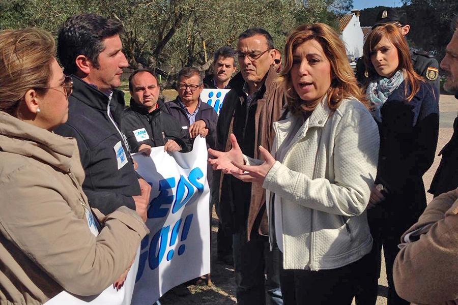La Plataforma exige celeridad a Susana Díaz para solucionar las deficiencias del Plan de los Regadíos
