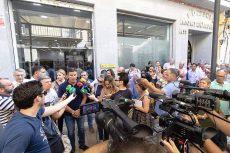 Concentración de la Plataforma ante la Subdelegación del Gobierno en Huelva